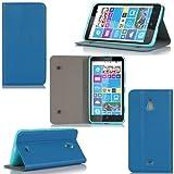 Etui luxe Nokia Lumia 1320 Ultra Slim bleu Cuir Style avec stand - Housse coque de protection Nokia Lumia 1320 bleue smartphone phablette - Prix découverte accessoires pochette XEPTIO : Exceptional case !