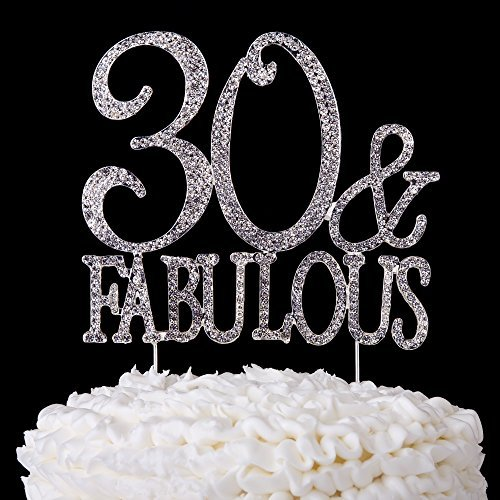 buy 30 and fabulous cake topper 30th birthday party supplies silver rh paisawapas com
