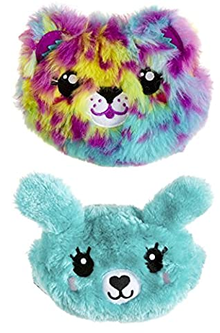 Smiggle Scented Fluffy Purse Reversible 2-in-1 Cute Character Face