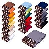 Topper SPANNBETTLAKEN/Laken F. BOXSPRINGBETT-Topper - 100% Feinste MAKO-Baumwolle - 19 Farben - SEHR Gute ca. 170 g/m² (180x200-200x220, Graphit)