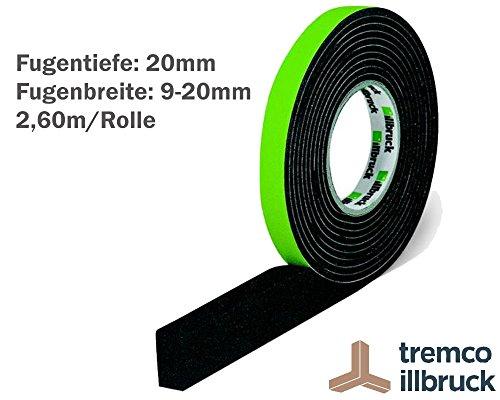 illbruck Profi Fugen Kompriband TP610 illmod eco BG1 Größe 20/9-20 Rolle 2,60 m grau