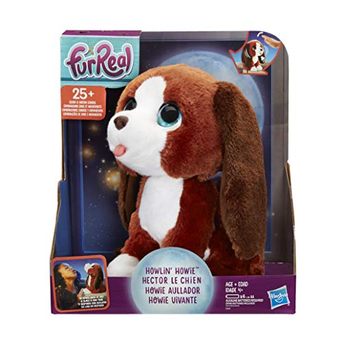 furReal Friends E4649EU5 furReal Howlin' Howie Interactive Plush Pet Toy, 25+ Sound-&-Motion Combinations, Ages 4 & Up, Multicolour