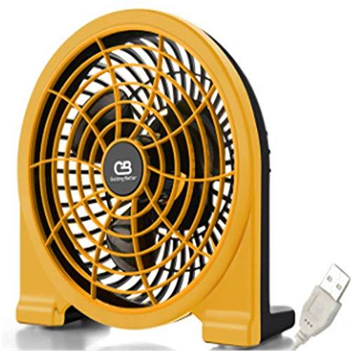 BBQBQ USB-Lüfter USB Fan Mini stumm Desktop Desktop kleinen Fan Sitz Uhr gelb 20 * 18 cm