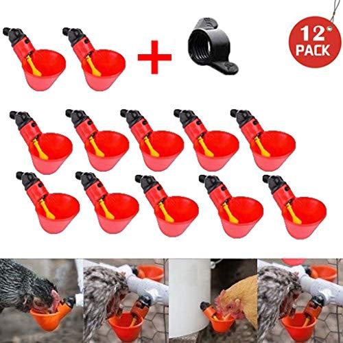 Räumungsverkauf ❃ 12Pcs Füttern Sie automatische Geflügel Trinker,Vogel Korb Geflügel Huhn Wasser Trinkbecher ()
