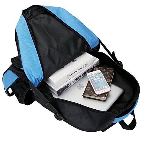 Nuovo Grande Numero Di Borsa Da Spalla Esterna Fashion Backpack Dello Zaino Multiuso Dello Spazio Grande Dello Zaino Dello Spazio,Orange Blue