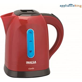Inalsa Glamor PCE 1.5-Litre Cordless Electric Kettle (Red/Black)