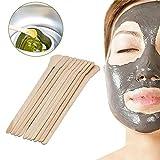 Greenlans 100 Stück Haarentfernung Wachs Mischen Holzstäbchen Gesichtsmaske Spatel Beauty Tool Multi