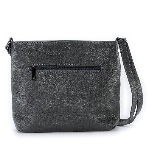 Leder Damen Handtasche - Tragbar als SCHULTER - Modell LONDON - Genarbtes Leder O My Bag Pnd8bKXU