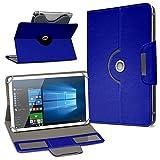 Robuste Schutzhülle für Ihr Archos Access 101 3G Tablet aus Kunstleder mit Standfunktion 360° Drehbar Hülle Schutztasche Ständer Tasche Cover Case Etui, Farbe:Blau