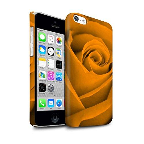 STUFF4 Matte Snap-On Hülle / Case für Apple iPhone 7 Plus / Orange Muster / Rose Kollektion Orange