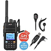 TYT tytera Upgraded MD-380g DMR Radio Digitale, with GPS Function. UHF Two Way Radio Walkie Talkie Compatible With MOTOTRBO, Transceiver with 2 Antenna & Programming Cable & Earpiece Headset, Black