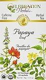 Celebration Herbals - Organisches koffeinfreies Papaya-Blatt-Kräutertee - 24 Teebeutel