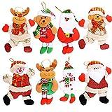 Proumhang 2 Piezas de Felpa Calcetines de Navidad Adornos Decoraciones de Navidad /árbol de Navidad Bolsa de Regalo Colgante