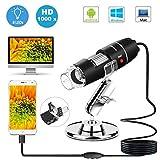 3 in 1 HD 1080P USB Mikroskop Digital Lupe Endoskop Videokamera mit Ständer für Mac Ios Windows (1600X Zoom)