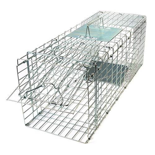 Las martas caerán en esta trampa tipo jaula. También es adecuada como trampa para gatos. Con la trampa para atrapar martas vivas, Gardigo te proporciona una solución respetuosa con el medio ambiente para atrapar martas, mapaches, conejos o incluso ga...