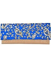 Arisha Kreation Co Women's Clutches (AK-1161, Blue)