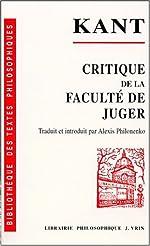 Critique de la faculté de juger de Emmanuel Kant