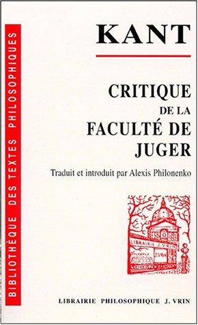 Critique de la facult de juger