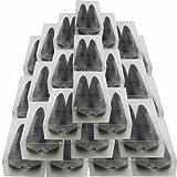 30x DynaSun PP368 XXL Schuhbox Schuhkasten Lagerkasten Box Schuhschachtel für Aufbewahrung Schuhe faltbare Halter für Damen und Herren
