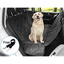 "witmoving perro tela fundas de asiento impermeable lavable viaje trasera pantalla mascota coche Auto arranque liner-black-63""* 55"" (incluir una mascota coche cinturón de seguridad 14""-21)"