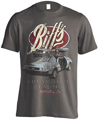 Back to The Future Delorean Michael J Fox offiziell Männer T-Shirt Herren (X-Large)