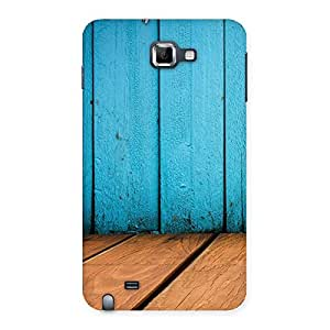 Wood Cyan Back Case Cover for Galaxy Note