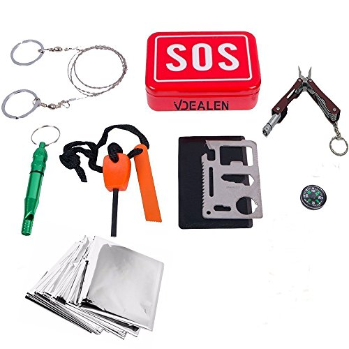 vdealen-sos-outdoor-survival-kit-gear-setincluding-outdoor-whistle-fire-starterwire-saw-small-pliers