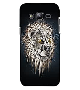 ColourCraft Lion Look Design Back Case Cover for SAMSUNG GALAXY J2 J200G
