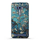 Fubaoda ASUS ZenFone Selfie ZD551KL Hülle, 3D Erleichterung Klassische Blume Muster TPU Case Schutzhülle Silikon Case für ASUS ZenFone Selfie ZD551KL