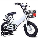 XBNH Kinder Fahrrad Baby Mädchen 12-14-16-18 Zoll Junge Mountainbike 4 5 6 7 8 9 10-Jährige Fahrrad mit Wasserflasche Hilfsrad (Größe: 12 Zoll)