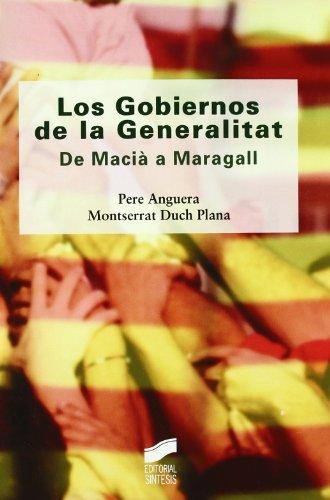 Los Gobiernos de la Generalitat (Diversos)