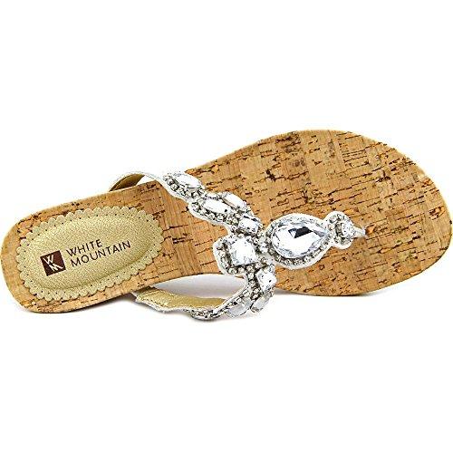 White Mountain Abra Damen Leder Keilabsätze Sandale White/Mult
