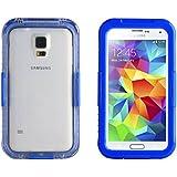 JAMMYLIZARD | Salamander Wasserdichte Schneedichte Handyhülle für Samsung Galaxy S5 / S5 Neo, BLAU