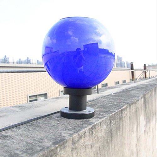 Solar-Licht, LED-Beleuchtung Garten-Licht Super Bright, Outdoor-Garten-Landschaft Solar-Spalte Lampe, Kugel (Farbe : Blau)