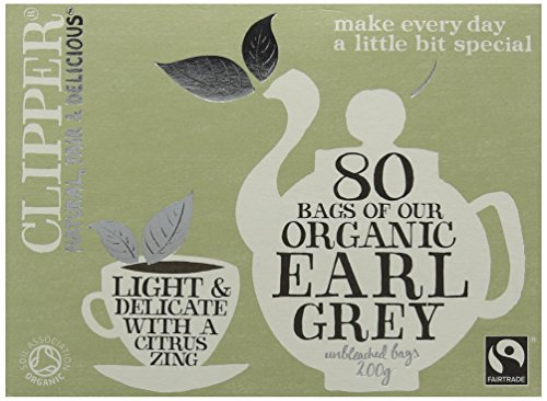 Clipper Organic Fairtrade Everyday Earl Grey 80 Teabags 200 g (Pack of 6)