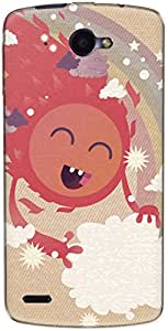 The Racoon Grip printed designer hard back mobile phone case cover for Lenovo S920. (Happy Sun)