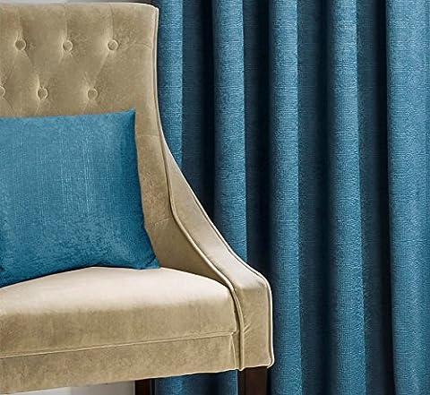 """Matrix Blaugrün Blau Texturierte Thermo Blockout Faltenband TOP Vorhänge, Polyester, blaugrün, 17"""" x 17"""" Cushion Cover"""
