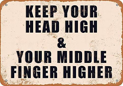Keep Your Head High Metall Fender Blechschild Plaque Art Poster Wandaufkleber Dekoration (Fender Head)