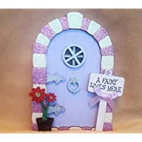 Handpainted Glitter Arch Wooden Magical Fairy Faerie Elf pixie door