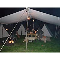 10ft x 10ft tarp TARPAULIN pre medival civil war canvas tent for Living history Reenactment bell frame knight 1