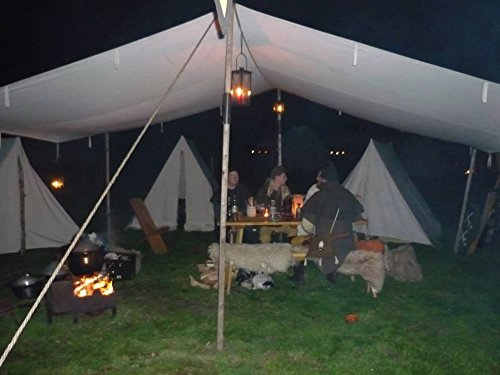 10ft-x-20ft-tarp-TARPAULIN-pre-medival-civil-war-canvas-tent-for-Living-history-Reenactment-bell-frame-knight