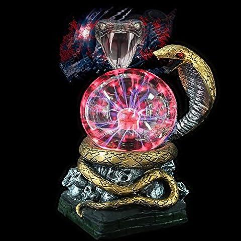 Cobra elettrostatica tocco luminoso palla magica 4 pollici palla-resina regalo magica sfera di cristallo