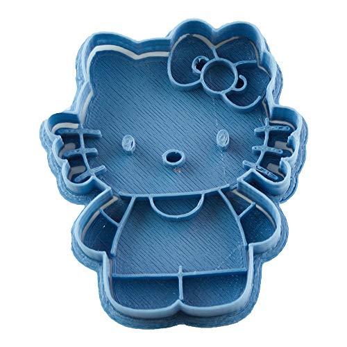 Cuticuter Hello Kitty Entera Cortador de Galletas, Azul, 8x7x1.5 cm