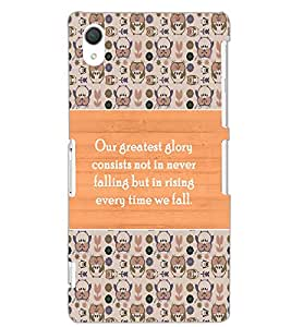SONY XPERIA Z2 QUOTE Back Cover by PRINTSWAG