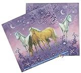 20 Servietten * LILA TRAUMPFERDCHEN * für Kindergeburtstag von Döll-Verlag // Kinder Geburtstag Party Fete Set Papierservietten Pink Mädchen Pferde Ponys