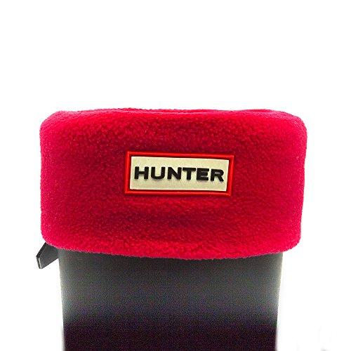SV Hunter - Calze in pile originali per stivali Hunter, da bambino, unisex, colore nero Rosso