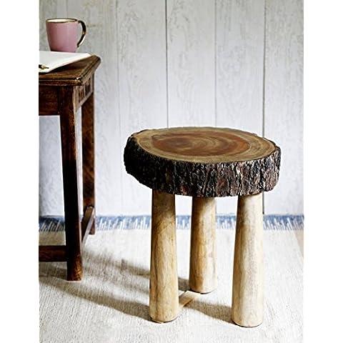 Regalos de Navidad, De madera rustico de tamano mediano de tamano de taburete Sentado en el arbol para la barra / contador / casa con el color de madera natural