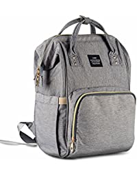HaloVa Diaper Bag Multi-Function Waterproof Travel Backpack Nappy Bags For Baby Care, Large Capacity, Stylish...