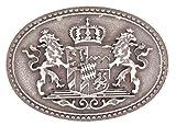 Veri Freistaat Bayern Landeswappen Buckle Gürtelschnalle Wappen bayerische Rauten Löwen Schnalle zu Wechseln one size cm :