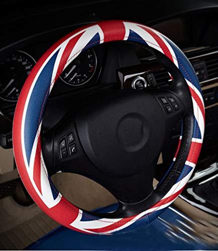 Unisex Union UK Flag Lenkradabdeckung 38 CM 15 zoll Atmungsaktiv, Anti Kein Slip -